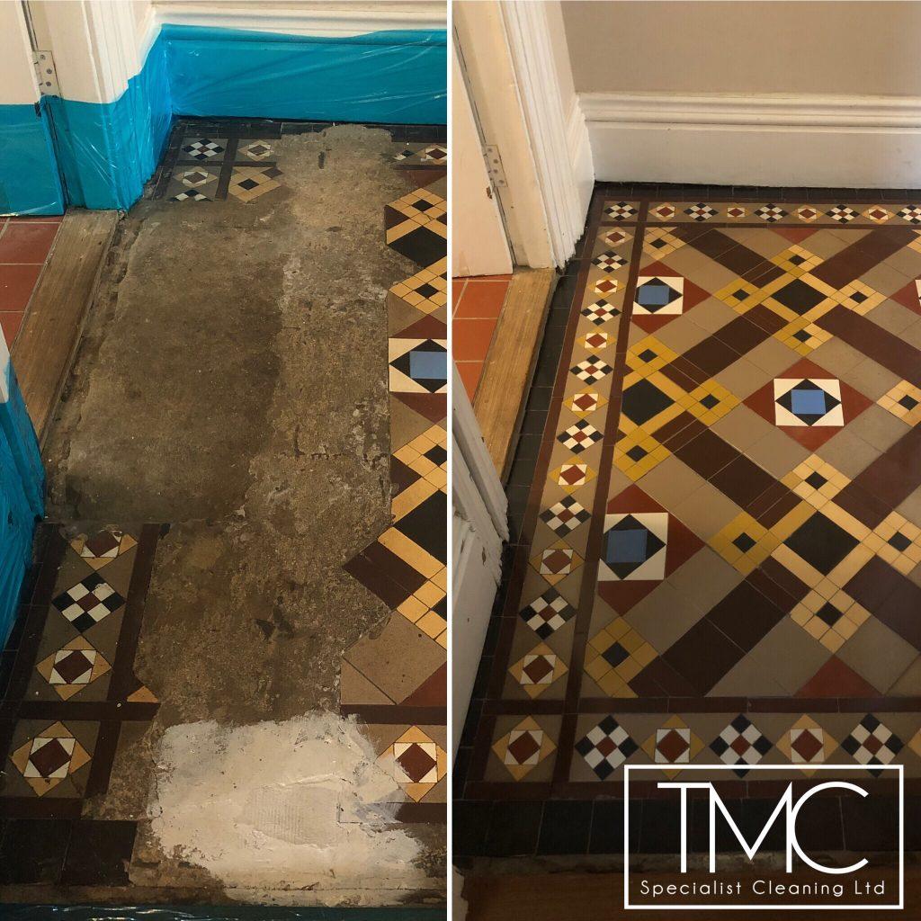 Victorian Tile Restoration In St Neots Cambridge Tmc
